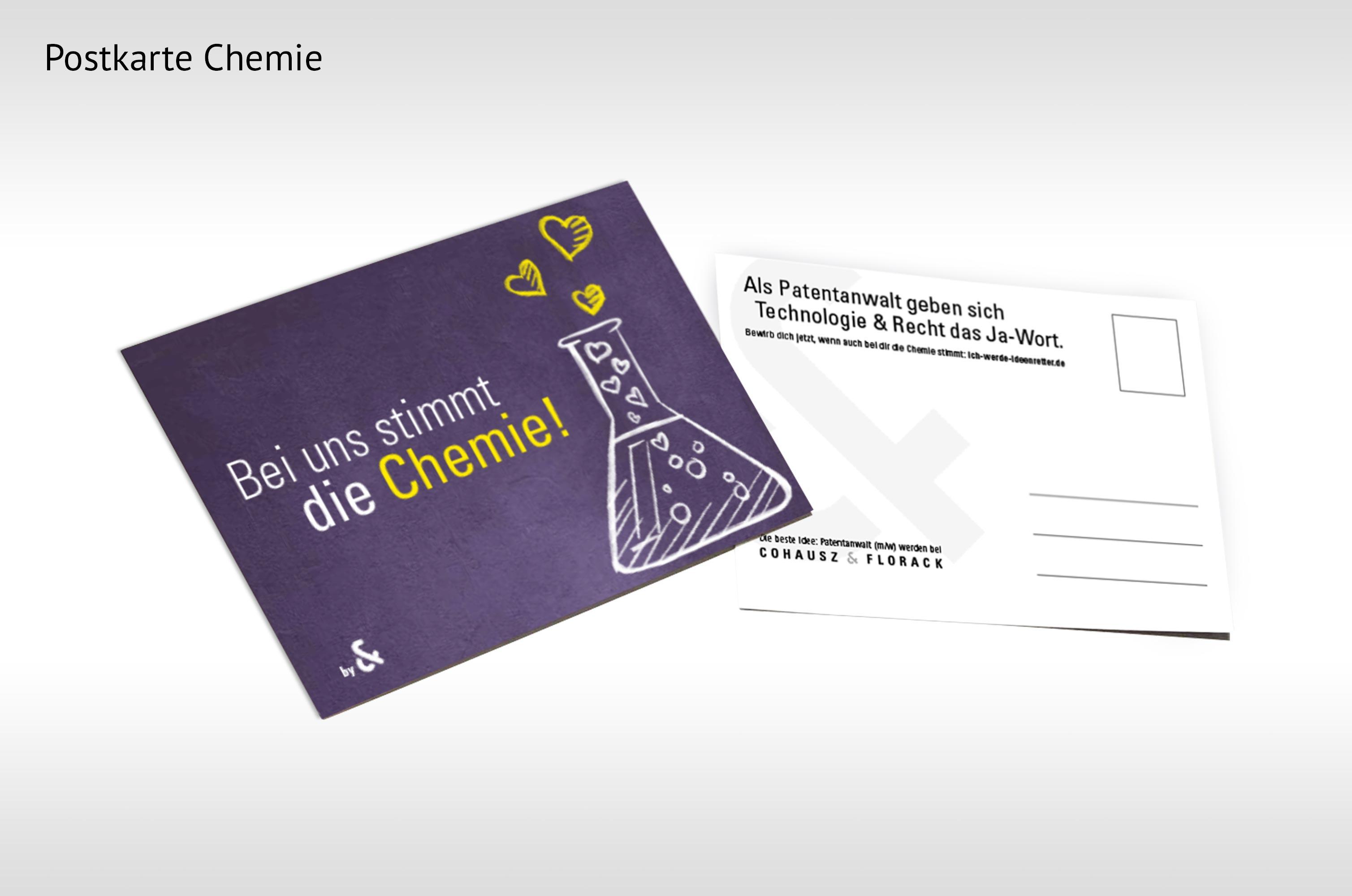 Postkarte in Detailansicht aus dem Bereich Chemie