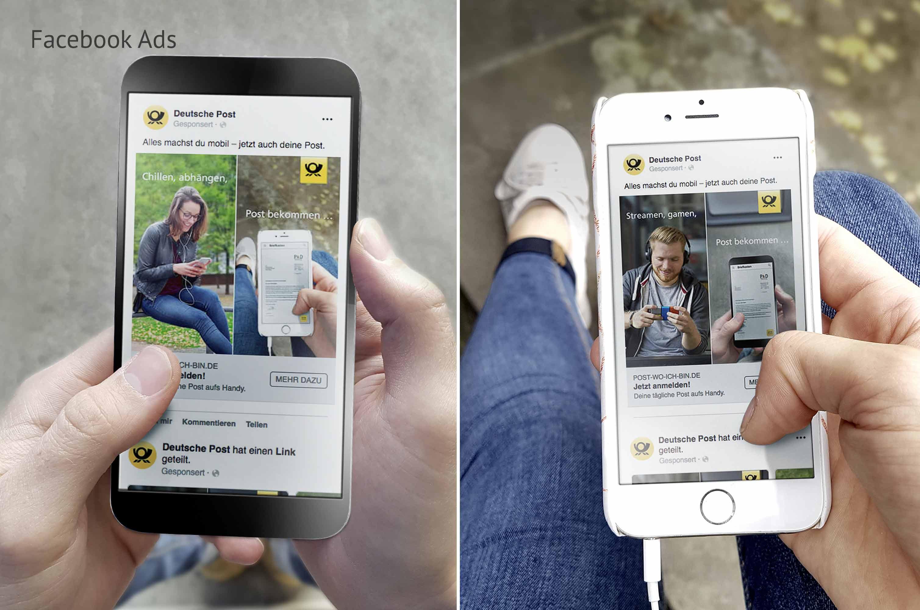 E-POSTSCAN Multikanalkampagne mit Facebook Ads