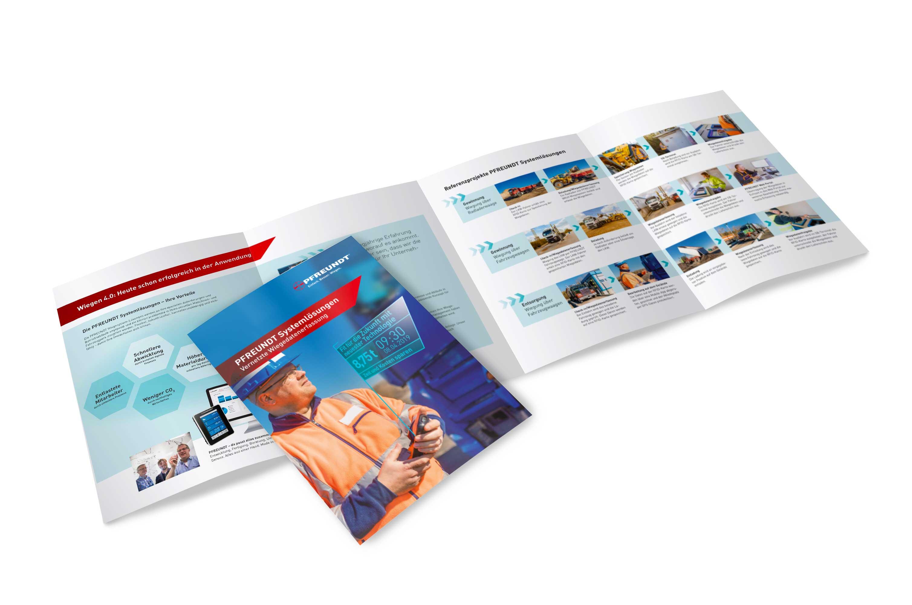 PFREUNDT Broschüre Systemlösungen – Vernetzte Wiegedatenerfassung