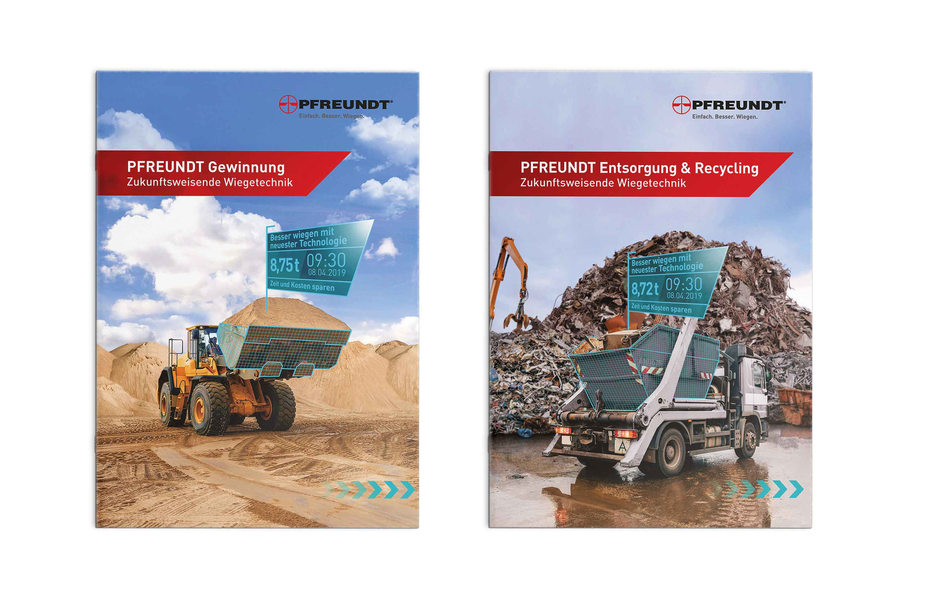 PFREUNDT Broschüren Titel Gewinnung und Entsorgung & Recycling