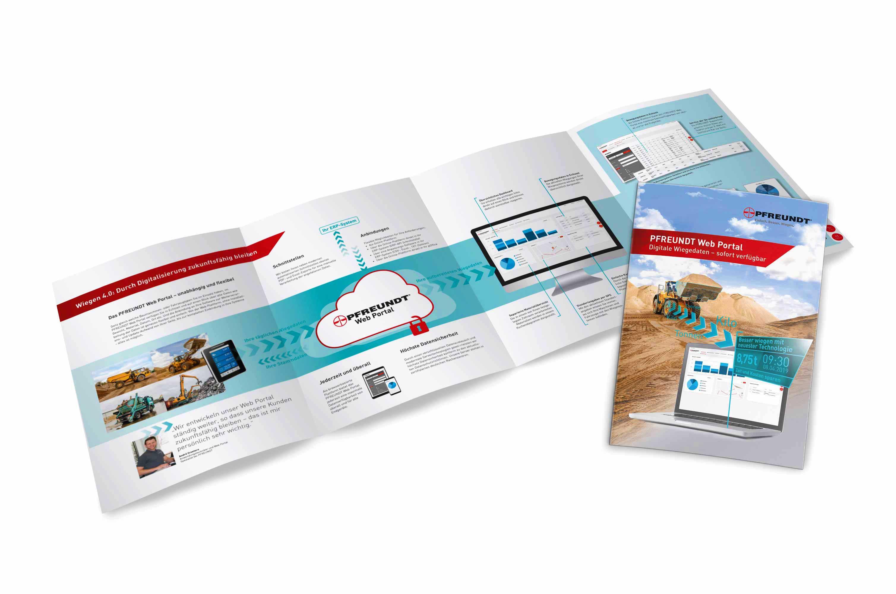 PFREUNDT Broschüre Web Portal – Digitale Wiegedaten sofort verfügbar