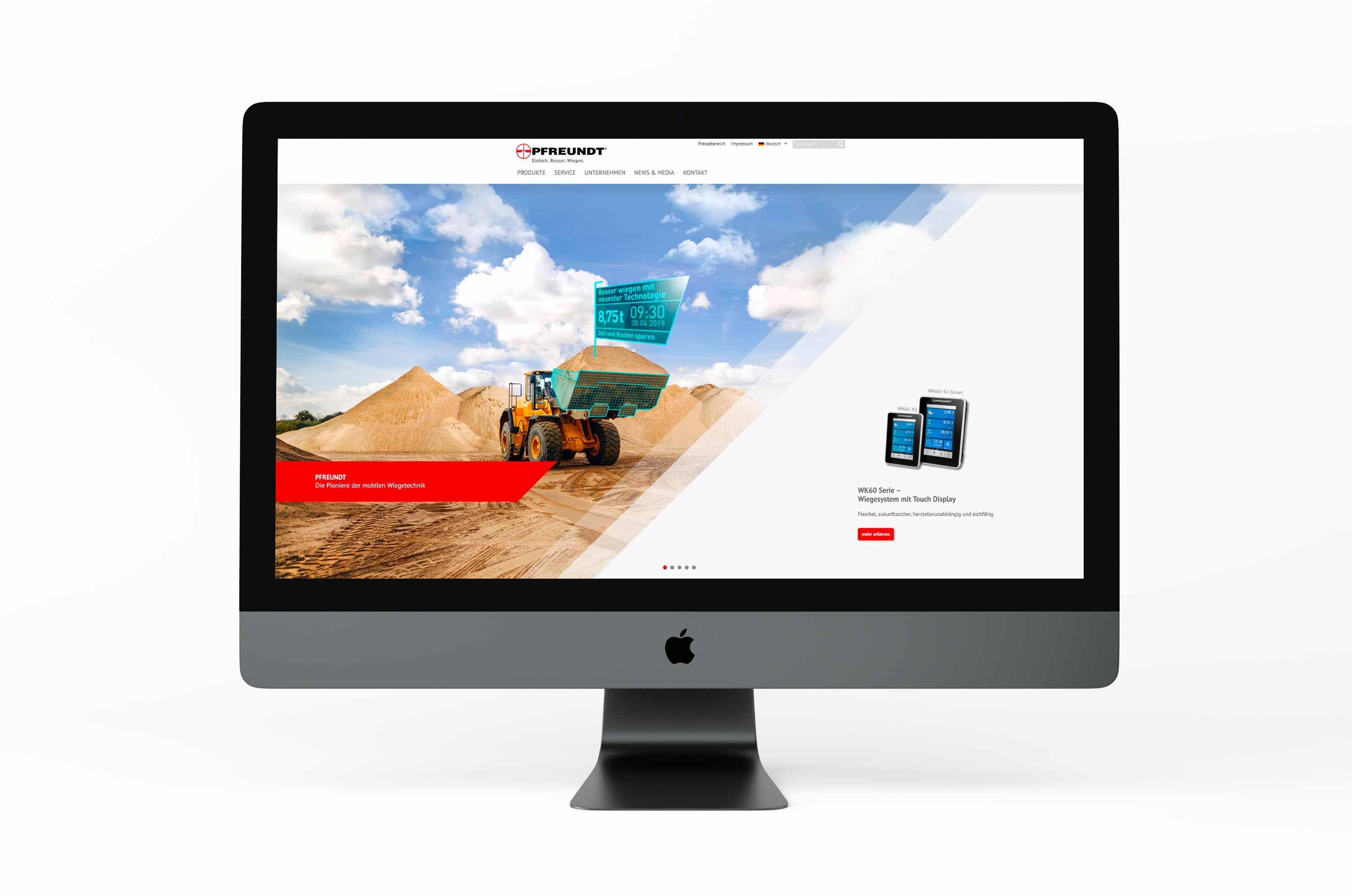 PFREUNDT Gewinnung - Headerbild für Website
