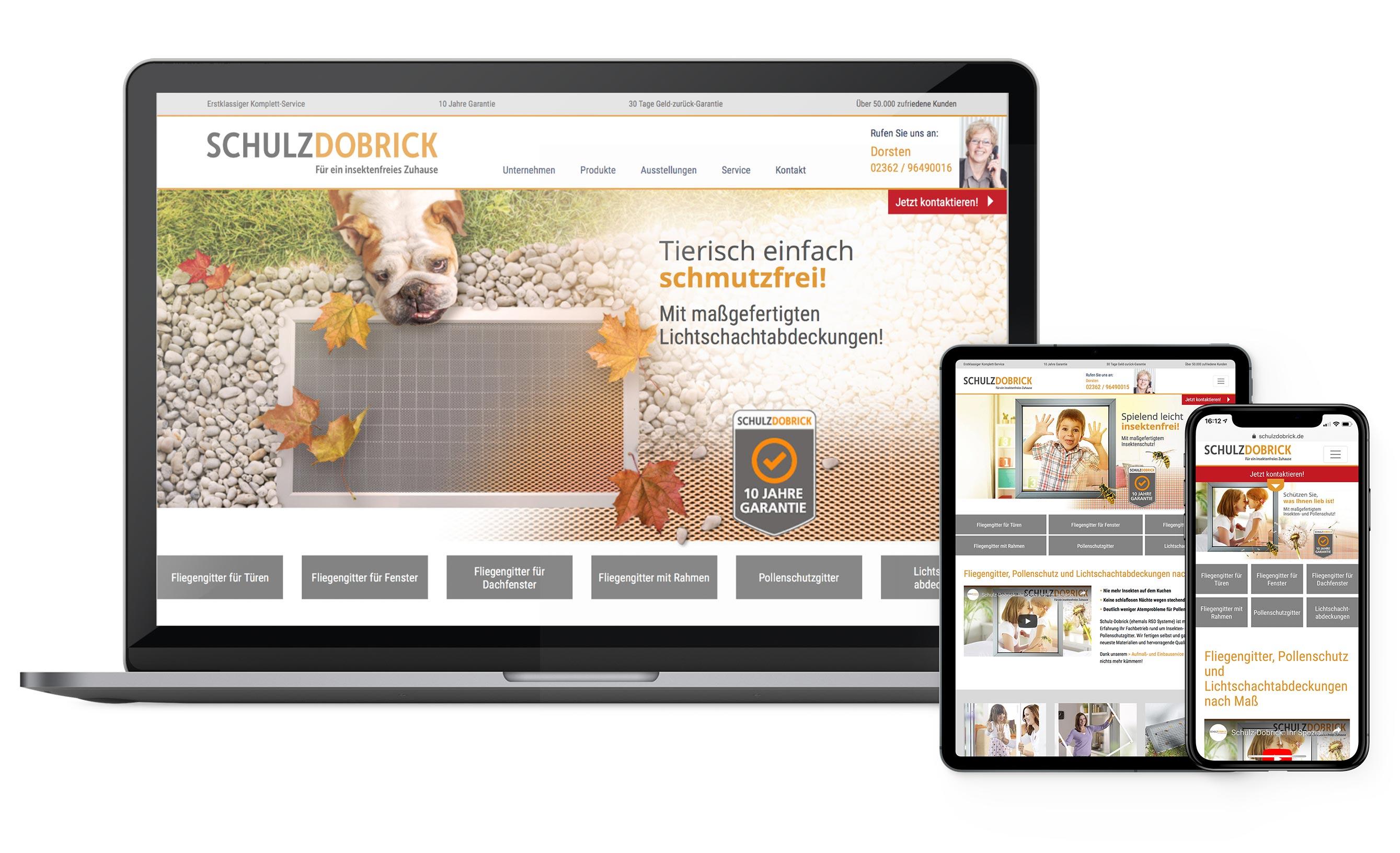 Onlinepräsenz im Rahmen des Gesamtkonzeptes für Schulz-Dobrick - Landingpages, Keyvisuals, SEO-optimierter Content, Produktseiten, Content-Strategie