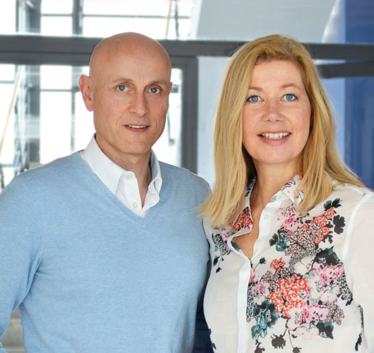 Andreas Fräßdorf und Gaby Willeczelek, die Geschäftsführer von Graphix Düsseldorf